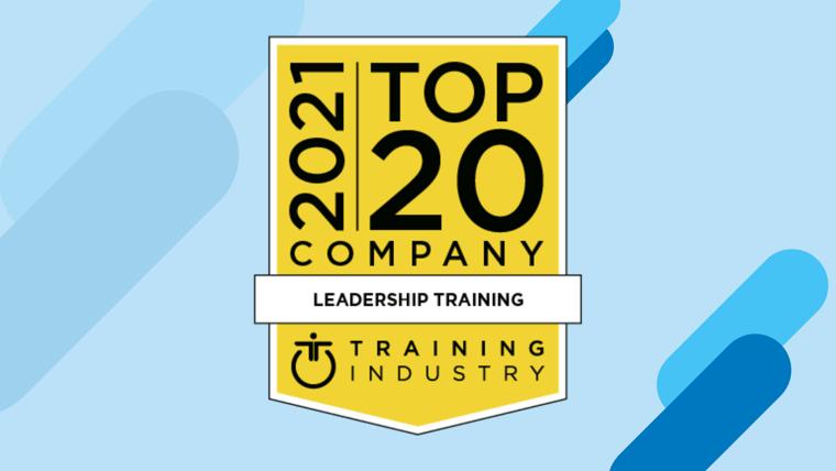 Blue Ocean Brain Selected as a 2021 Top 20Leadership Training Company
